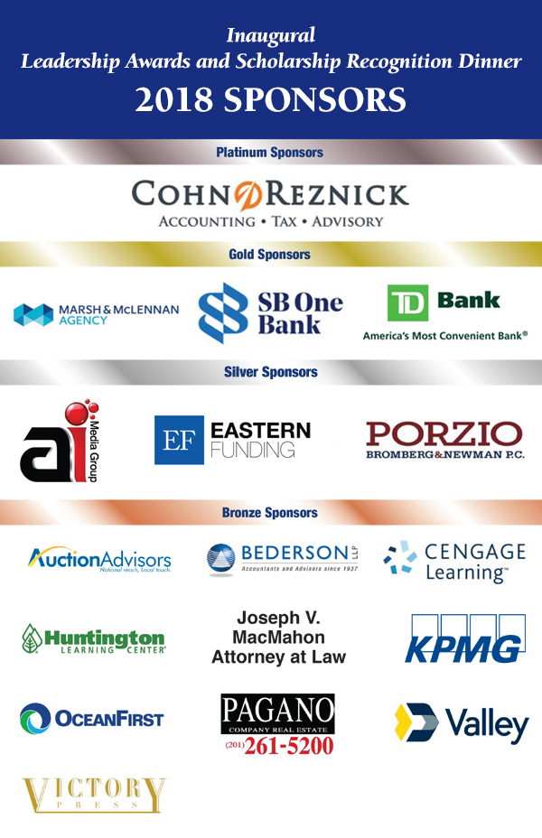 Inaugural Leadership Awards and Scholarship Recognition Dinner Sponsors